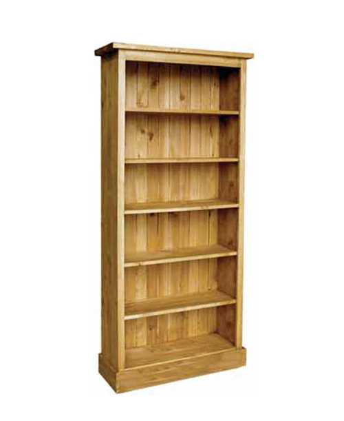 Wye Pine 6ft 6 Boston Bookcase