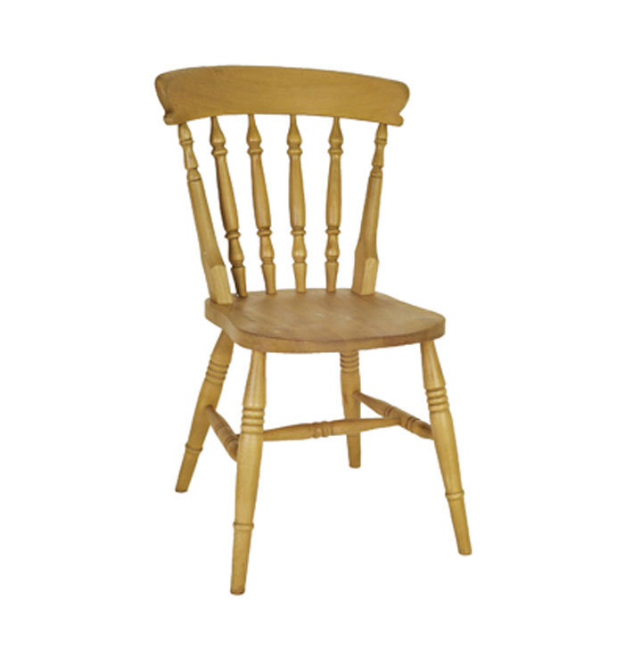 Wye Pine Solid Beech Wood Boston High Back Spindle Chair