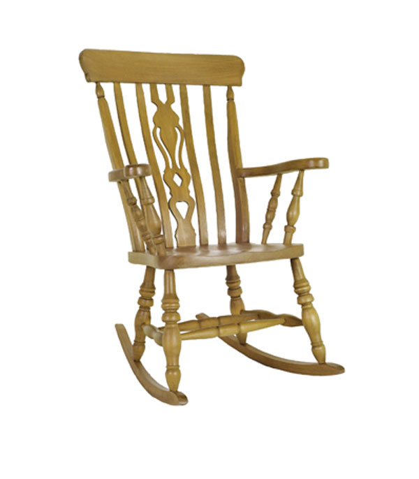 beech wood fiddle rocking chair pine furniture from