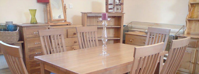 Large pine table & chairs for Kitchen or Dining Room made from solid sustainable wood