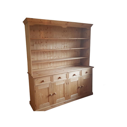 Traditional Dresser With Bookcase Canopy